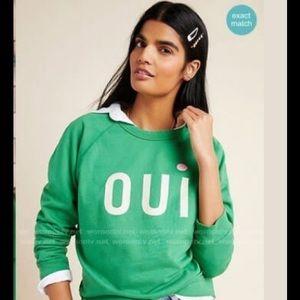 Clare V Oui Sweatshirt  NWT